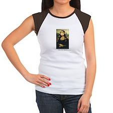 Mona Lisa Monkey Women's Cap Sleeve T-Shirt