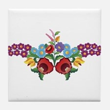 Kalocsai floral pattern Tile Coaster