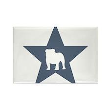 Bulldog Star Rectangle Magnet