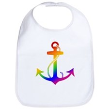 Rainbow Anchor Bib