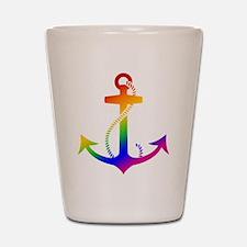 Rainbow Anchor Shot Glass