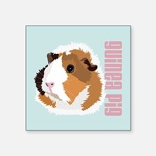Retro Guinea Pig 'Elsie' (blue) Sticker