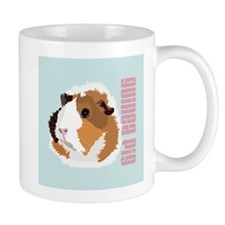 Retro Guinea Pig 'Elsie' (blue) Small Mug