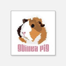Retro Guinea Pig 'Elsie' (white) Sticker