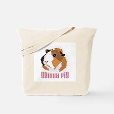 Retro Guinea Pig 'Elsie' (white) Tote Bag