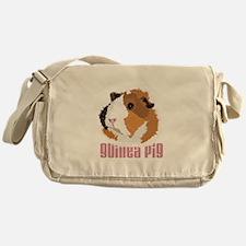 Retro Guinea Pig 'Elsie' (white) Messenger Bag