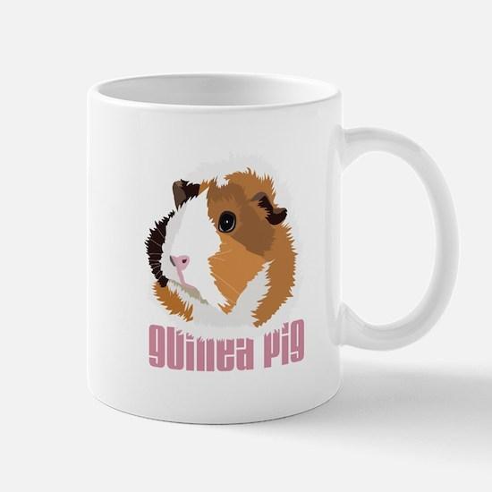 Retro Guinea Pig 'Elsie' (white) Small Mug