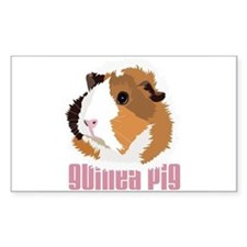 Retro Guinea Pig 'Elsie' (white) Decal