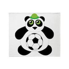Panda Soccer Ball Throw Blanket