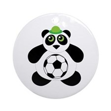 Panda Soccer Ball Ornament (Round)