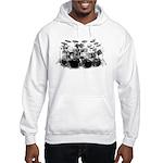Drum Sketch Hooded Sweatshirt