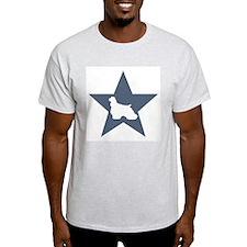 Cocker Spaniel Star Ash Grey T-Shirt