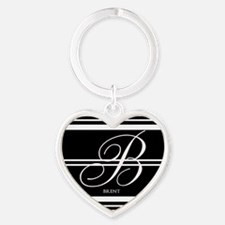 Black and White Stripe Monogram Keychains