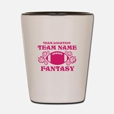 Ladys Hot Pink Fantasy Personalized Shot Glass
