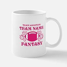 Ladys Hot Pink Fantasy Personalized Mug