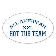 AA Hot Tub Team Oval Decal