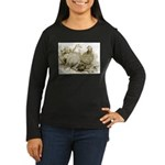 Frillback Pigeons Women's Long Sleeve Dark T-Shirt