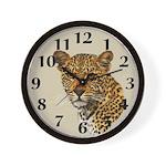 Cheetah Cat Wall Clock