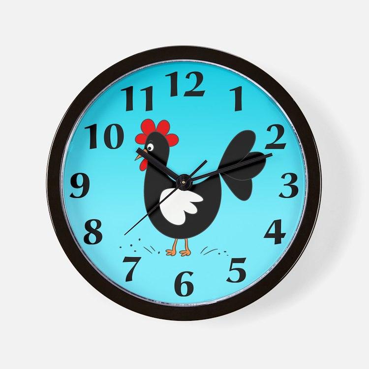 Kitchen Wall Clock Farm Animals