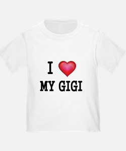 I LOVE MY GIGI 2 T-Shirt