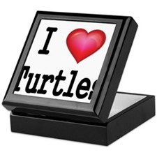 I LOVE TURTLES Keepsake Box