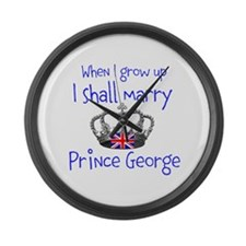 Marry Prince George Large Wall Clock