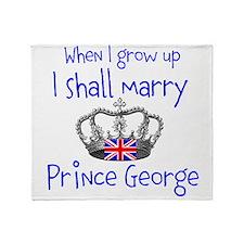 Marry Prince George Throw Blanket