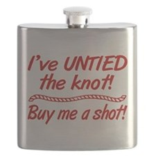 Untied The Knot Buy Me A Shot Flask