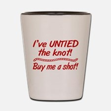 Untied The Knot Buy Me A Shot Shot Glass