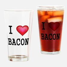 I LOVE BACON Drinking Glass