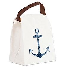 Retro Anchor Canvas Lunch Bag