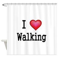 I LOVE WALKING Shower Curtain