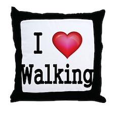 I LOVE WALKING Throw Pillow