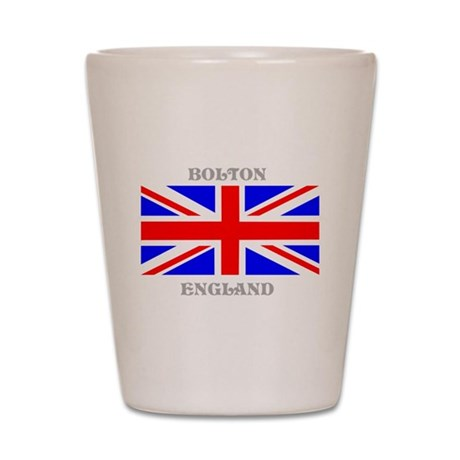 Bolton England Shot Glass