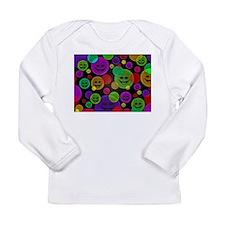 Smiley Bubbles Faces Long Sleeve T-Shirt