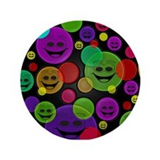 "Smiley Bubbles Faces 3.5"" Button"