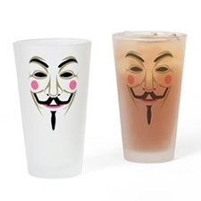 Guy Fawks Mask Drinking Glass