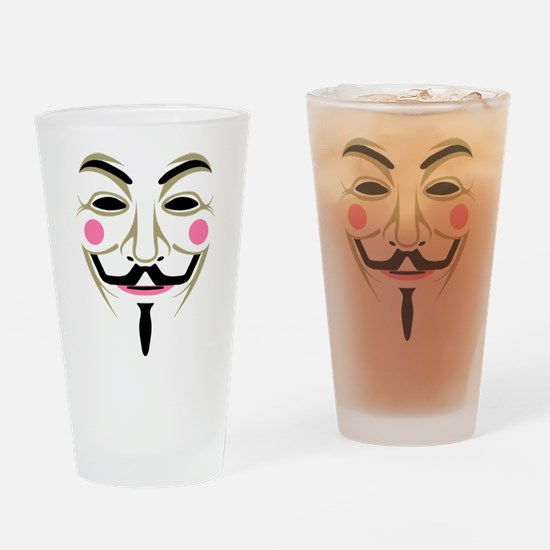 Guy Fawks Mask Drinking Glass