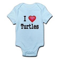 I LOVE TURTLES Body Suit