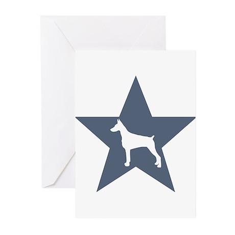 Doberman Pinscher Star Greeting Cards (Pk of 10)