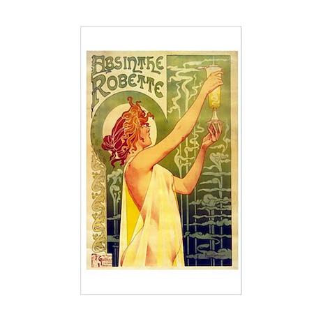 Absinth Ad from late 19th cen Sticker (Rectangular