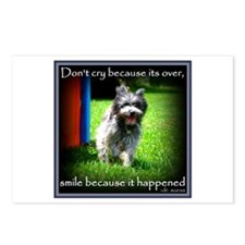 Smile because it happened Postcards (Package of 8)