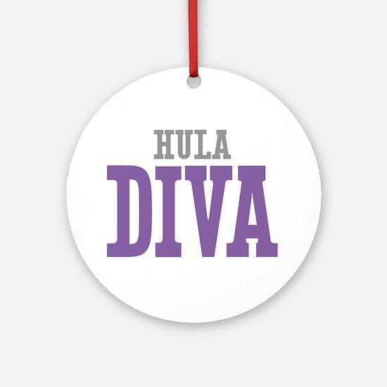 Hula DIVA Ornament (Round)