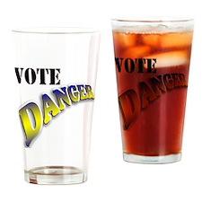 Vote Danger Drinking Glass