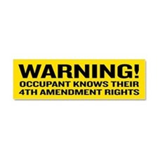 4th Amendment Warning Car Magnet 10 x 3