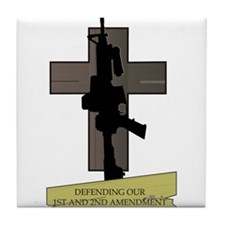 Defending our 1st & 2nd Amendment Rights Tile Coas