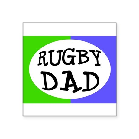 Rugby Dad Bumper Sticker (Small Oval) Sticker