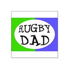 Rugby Dad Bumper Sticker (Small Oval) Sticker