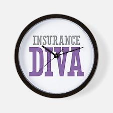 Insurance DIVA Wall Clock