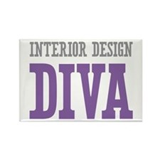 Interior Design DIVA Rectangle Magnet